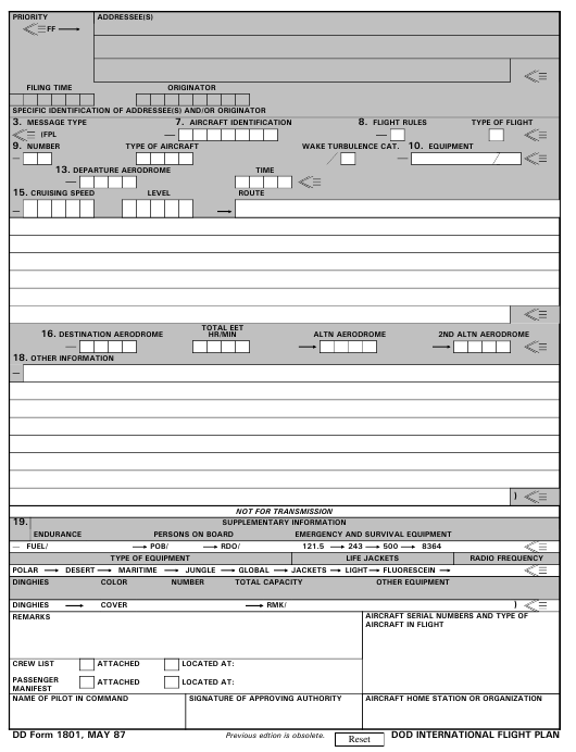 DD Form 1801 Fillable Pdf