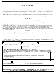 DD Form 2948 Special Compensation for Assistance With Activities of Daily Living (SCAADL) Eligibility