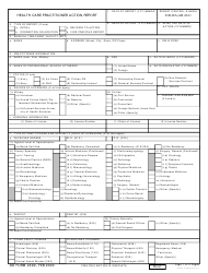 DD Form 2499 Health Care Provider Action Report