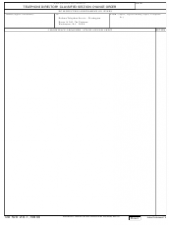 DD Form 218-1 Telephone Directory Classified Section Change Order