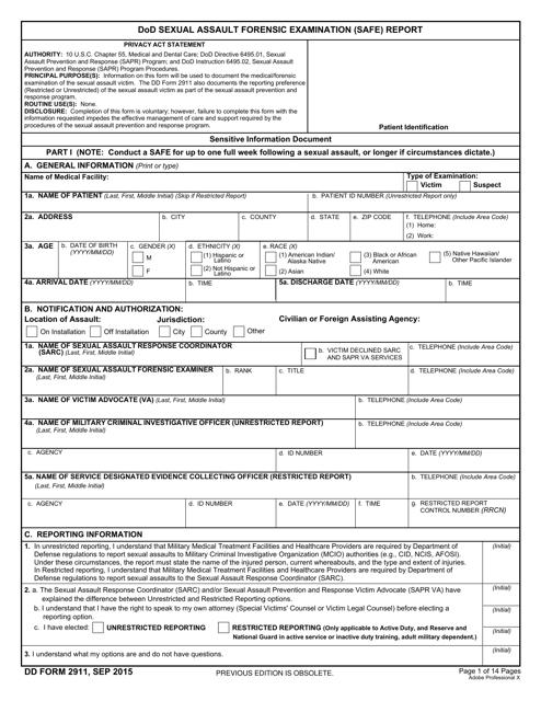 DD Form 2911 Fillable Pdf