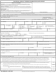 DD Form 2911 DoD Sexual Assault Forensic Examination (Safe) Report