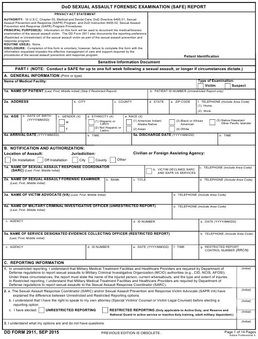 DD Form 2911 Fillable Pdf