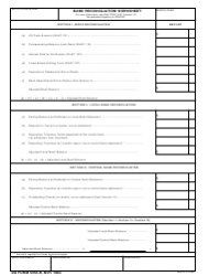 DA Form 5353-R Bank Reconciliation Worksheet