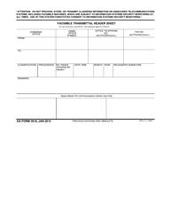 DA Form 3918 Facsimile Transmittal Header Sheet