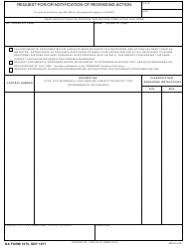 DA Form 1575 Request for/Or Notification of Regrading Action