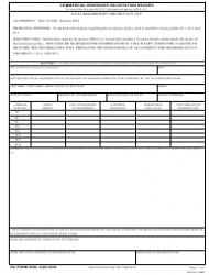 DA Form 2056 Commercial Insurance Solicitation Record
