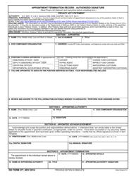 DD Form 577  Fillable Pdf