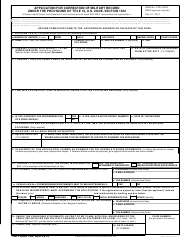 DD Form 149 Application for Correction of Military Record Under the Provisions of Title 10, U.S. Code, Section 1552