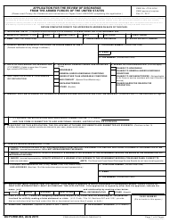 DD Form 293 Application for the Review of Discharge From the Armed Forces of the United States
