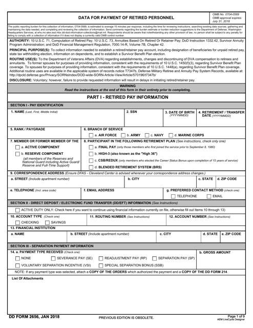 DD Form 2656 Printable Pdf