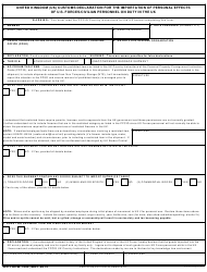 DD Form 1434  Fillable Pdf