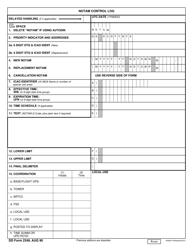 DD Form 2349 Notam Control Log