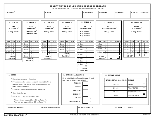 da-form-88-combat-pistol-qualification-course-scorecard_big Online Form Army Up on statement charges, 2a usar, oer support,