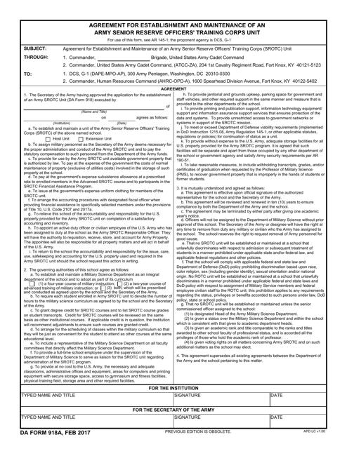 DA Form 918A  Printable Pdf