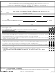 """DA Form 1574-1 """"Report of Proceedings by Investigating Officer"""""""