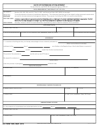 DA Form 1695 Oath of Extension of Enlistment