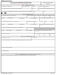 "DA Form 2166-9-1A ""NCO Evaluation Report Support Form"""