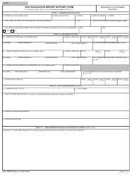 DA Form 2166-9-1A NCO Evaluation Report Support Form
