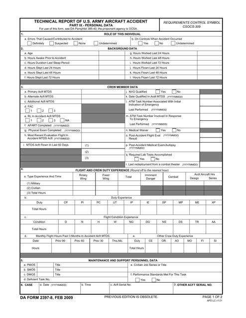 DA Form 2397-8  Printable Pdf