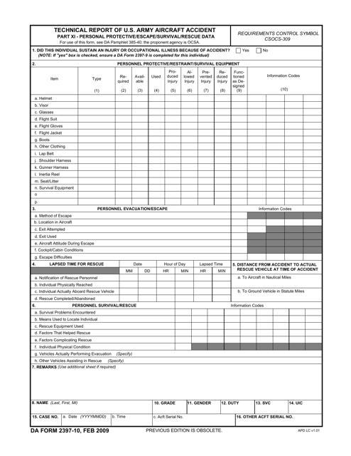DA Form 2397-10 Fillable Pdf