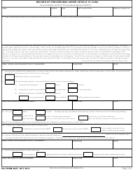DA Form 2627 Record Of Proceedings Under Article 15, Ucmj