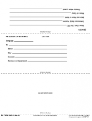 DA Form 2667-R Prisoner of War Mail (Letter) (Lra) (Ed Jul 63 Will Be Used)