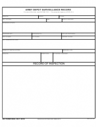 DA Form 3022 Army Depot Surveillance Record