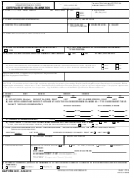 DA Form 3437 Certificate of Medical Examination