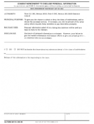 DA Form 4817-R Consent/nonconsent To Disclose Personal Information