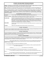 DA Form 5261-4 Student Loan Repayment Program Addendum