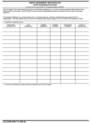 DA Form 5562-1-R Needs Assessment Methodology
