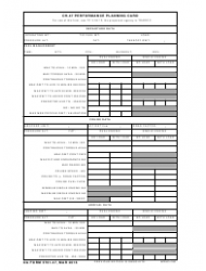 DA Form 5701-47 Ch-47 Performance Planning Card