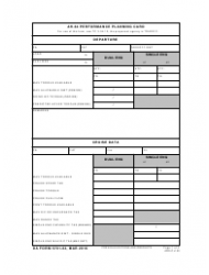 DA Form 5701-64 Ah-64 Performance Planning Card