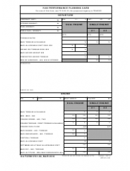 DA Form 5701-60 H-60 Performance Planning Card