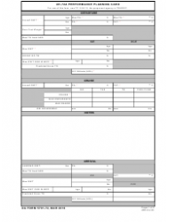 DA Form 5701-72 Uh-72a Performance Planning Card