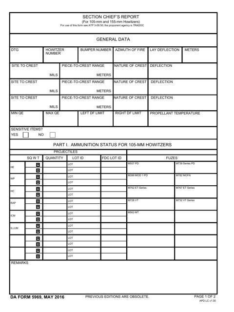 DA Form 5969 Fillable Pdf