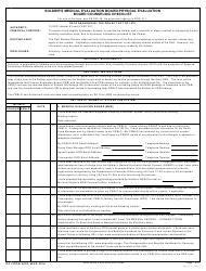 DA Form 5893 Soldier's Medical Evaluation Board/Physical Evaluation Board Counseling Checklist