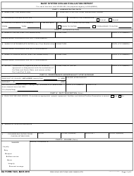 DA Form 7223 Base System Civilian Evaluation Report