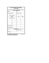 DA Form 7345 Gr/Cs Takeoff and Landing Data Card