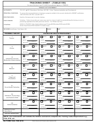 "DA Form 7442 ""Tracking Sheet - (Table Vii)"""