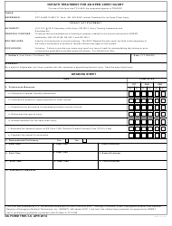 DA Form 7595-1-6 Initiate Treatment for an Open Chest Injury