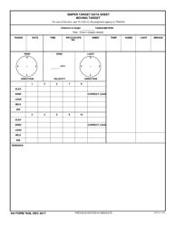 DA Form 7636 Sniper Target Data Sheet Moving Target
