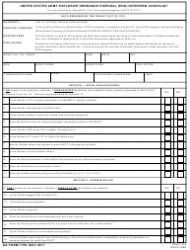 DA Form 7759 United States Army Explosive Ordnance Disposal (Eod) Interview Checklist