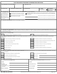 DD Form 106 DoD Issuances Program Coordination Initiation