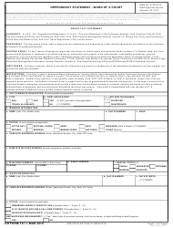 """DD Form 137-7 """"Dependency Statement - Ward of a Court"""""""