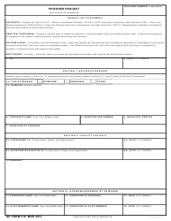 DD Form 510 Prisoner Request