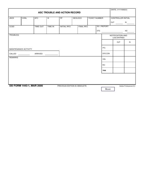 DD Form 1443-1 Fillable Pdf