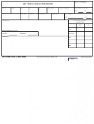 DD Form 1443-1 Asc Trouble and Action Record