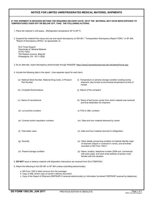 DD Form 1502-2N Printable Pdf